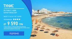 Тунис, вылет 27.04.2017 на 7 ночей от 9 590 грн