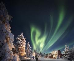 Новые иглу с видом на северное сияние в Финляндии!