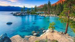 А Вы знали, что на территории Калифорнии и Невады расположено красивейшее озеро Тахо?